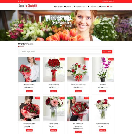 Çiçekçi Web Sitesi Yazılımı